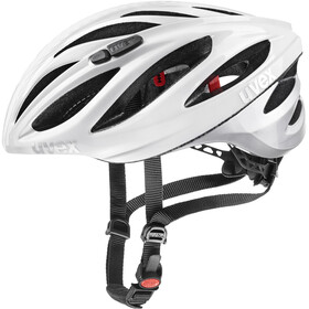 UVEX Boss Race LTD Helm white silver